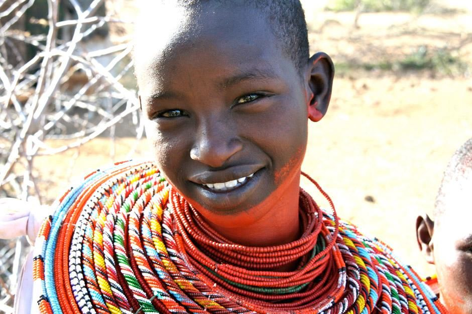 Kenya: Portrait of a young Maasai girl. This image is from Warrior Road Trip. [A nap kpe - 2012. mjus  5.]