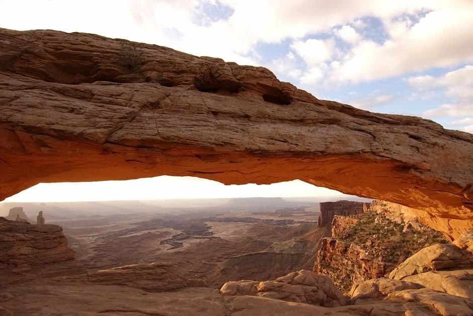 Mesa Arch, Canyonlands, Utah at dusk. This image is from Amazing Planet. [Photo of the day - May 2012]