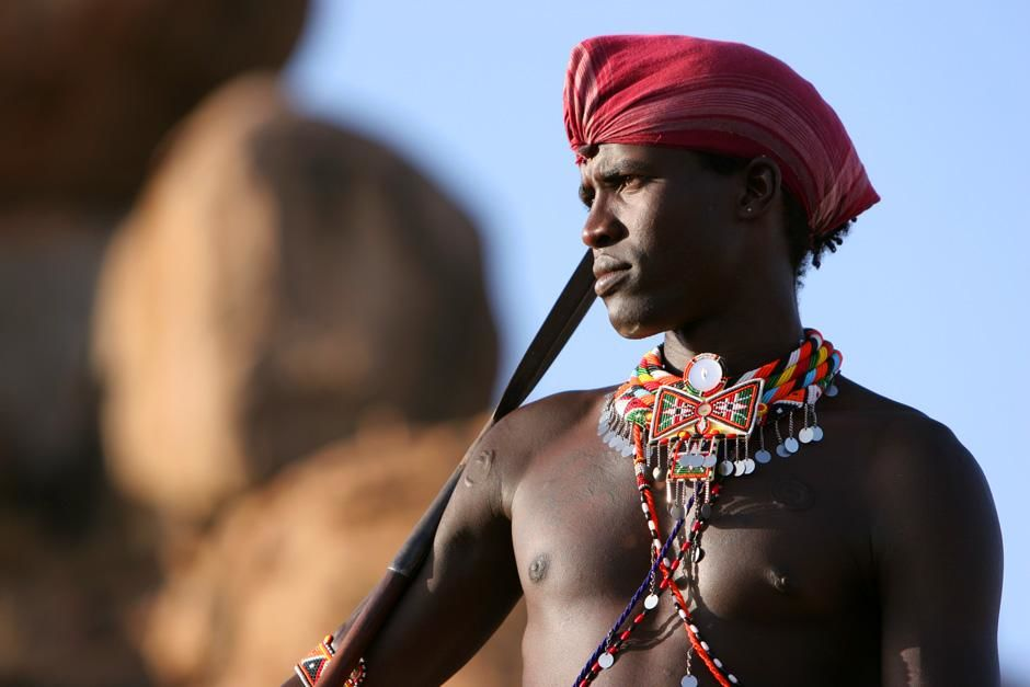 Kenya: Maasai warrior Lemarti. This image is from Warrior Road Trip. [Dagens foto - juli 2012]
