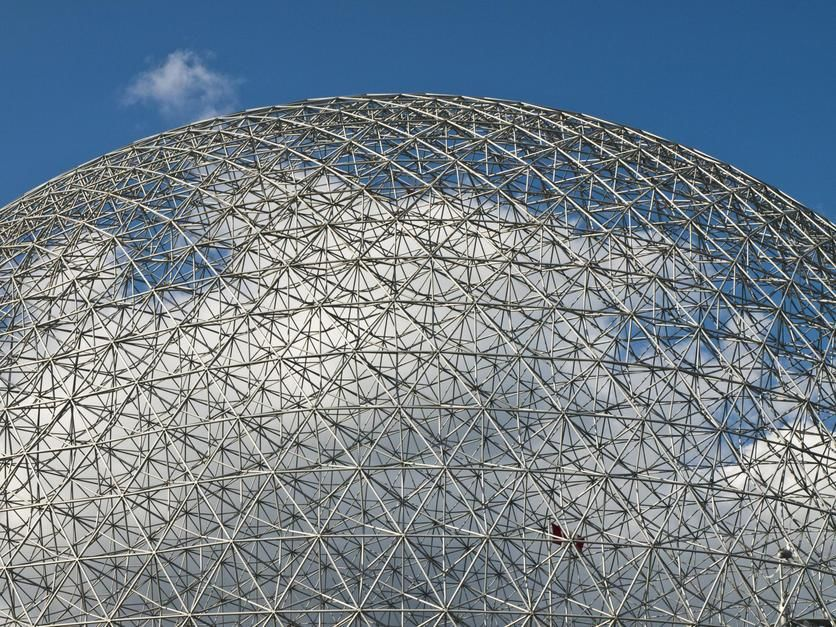 The Expo 1967 Geodesic Dome, now called the Biosphere, in Montreal. Canada. [Dagens foto - september 2011]
