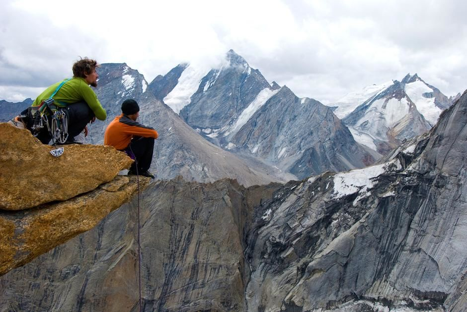 Kashmir: Jonny Copp (left) and Micah Dash admiring the view in Kashmir. This image is from First ... [Photo of the day - October, 2012]