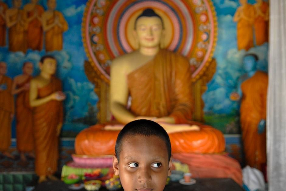 Portrait of Young Buddhist Monk,  Galle, Sri Lanka. This image is from Laya Project. [Фото дня - Октябрь 2012]
