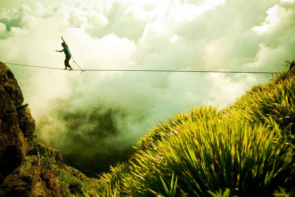 Climber Cedar Wright walks the highline above Rio de Janeiro, Brazil. This image is from First... [Photo of the day - November 2012]