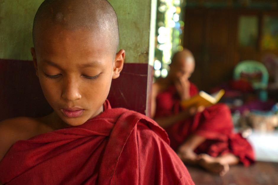 Young Buddhist monk chanting. This image is from Laya Project. [Photo of the day - November 2012]