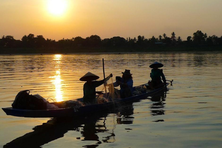 """Impressionen vom  Mekong. Das Bild stammt aus """"Monstersuche mit Richard Terry"""". [Foto des Tages - Dezember 2012]"""