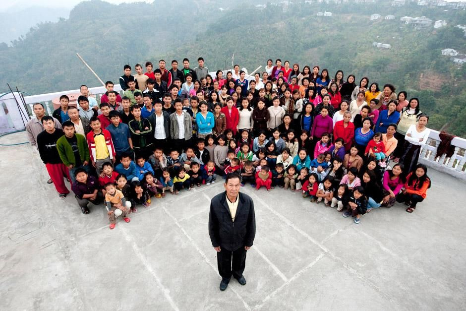 Baktawng village, Mizoram, India: A family photograph of the Ziona family on January 30, 2011. Th... [Photo of the day - January 2013]