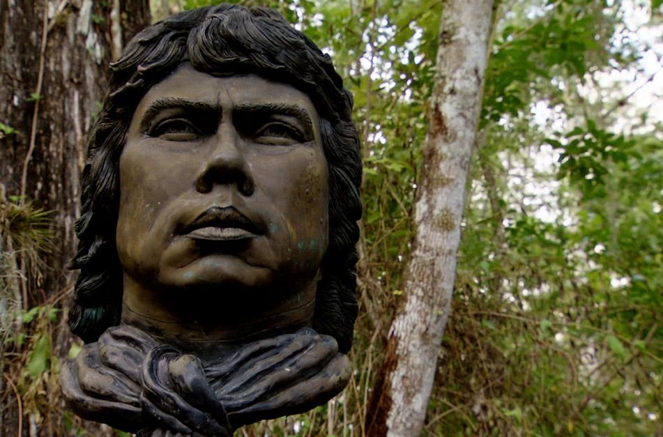 Big Cypress, FL, USA: Close-up of a Seminole statue in the Big Cypress swamp. This image is from ... [Photo of the day - January 2013]