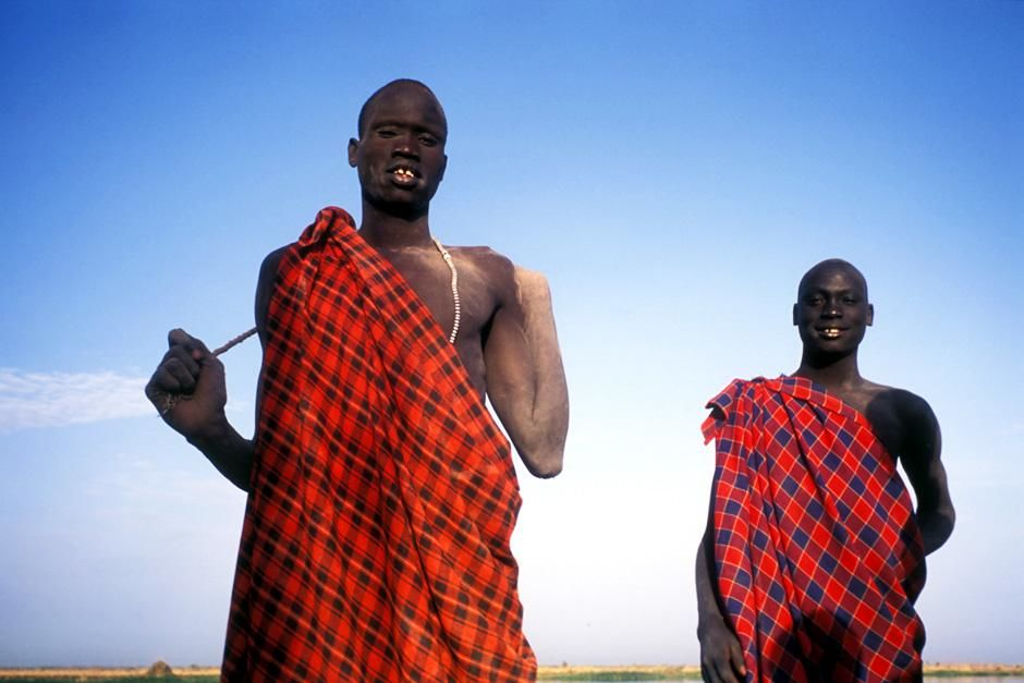 Two Dinka Men. This image is from Tribal Odyssey. [Photo of the day - February 2013]