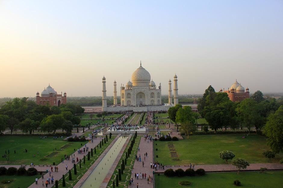 Taj Mahal, Agra, India: The Taj Mahal complex with the usual daily throng of visitors. People lin... [Photo of the day - February 2013]