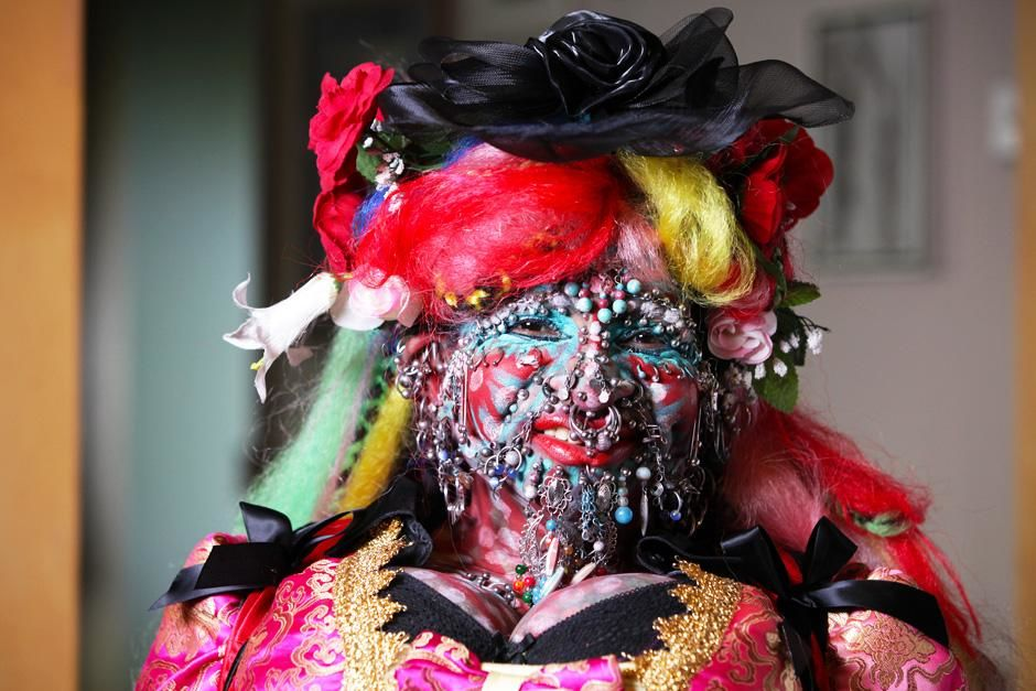 London, UK: Elaine Davidson, the world's most pierced woman.This image is from Taboo. [Photo of the day - February 2013]