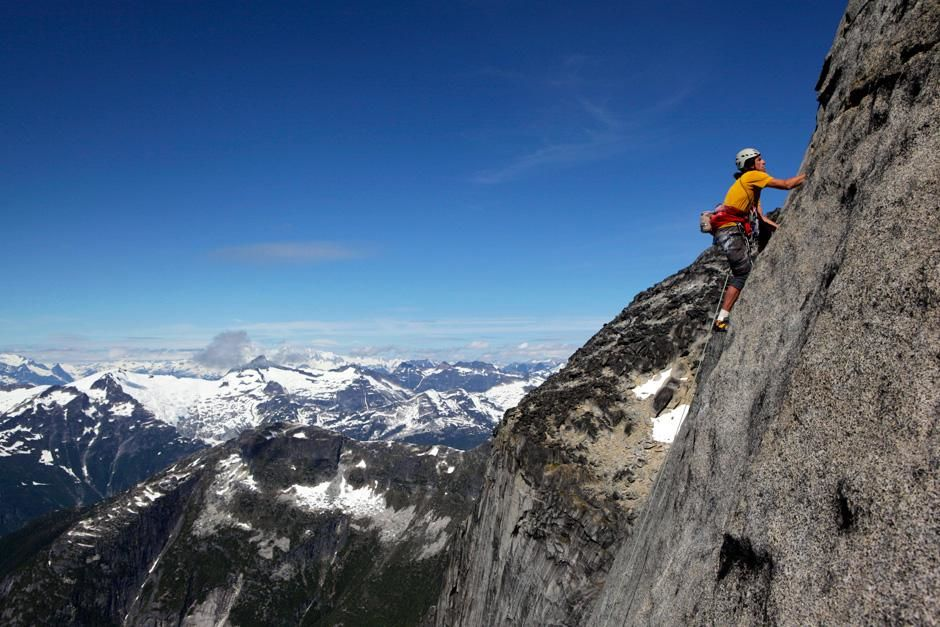 Dean Potter free climbs Mt. Bute, British Columbia. This image is from The Man Who Can Fly. [Photo of the day - February 2013]