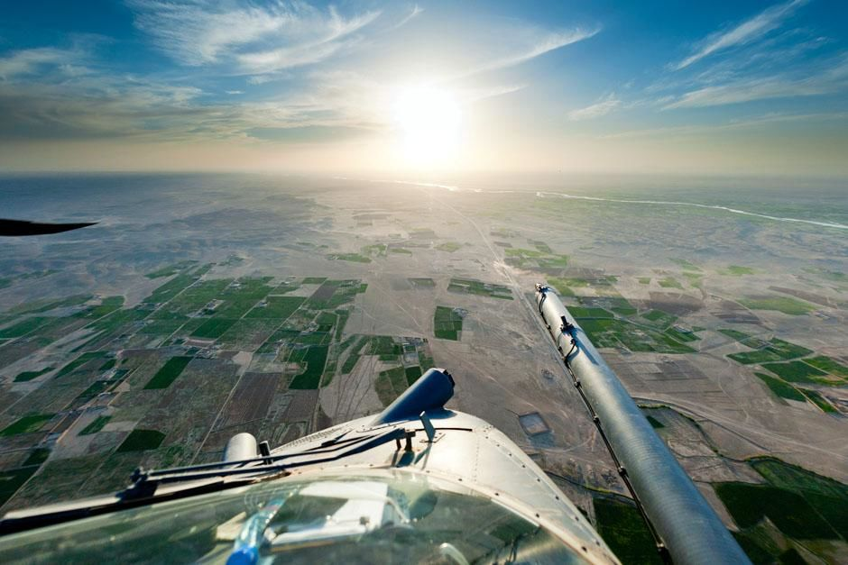 Helmand, Afghanistan: The view from a Pave Hawk helicopter, flying over Helmand, Afghanistan.... [Photo of the day - June 2013]