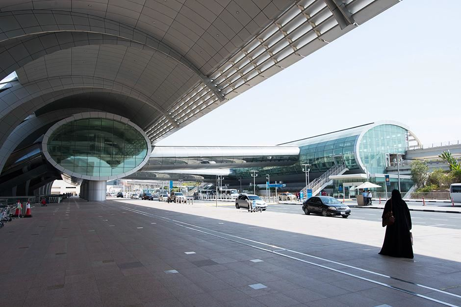 Dubai International Airport, Dubai, United Arab Emirates: The outside entrance at Dubai airport. ... [Photo of the day - September 2013]