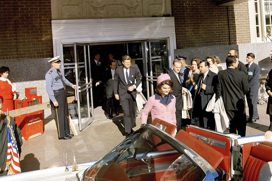 Love Field, Dallas, Texas, USA: President and Mrs. Kennedy depart the Texas Hotel for the motorca... [Photo of the day - November 2013]