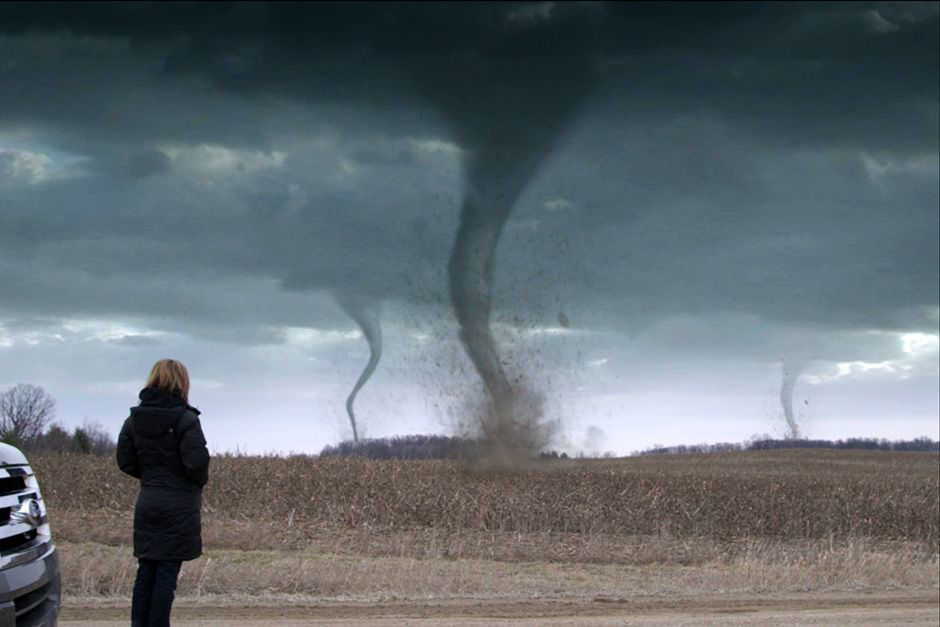 Ann Arbor, Michigan, USA: A graphic of Karen Kosiba looking at tornadoes. This image is from Top ... [Foto des Tages - Dezember 2013]