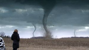 Ann Arbor, Michigan, USA: A graphic of Karen Kosiba looking at tornadoes. This image is from Top ... Foto do dia -  4 Dezembro 2013
