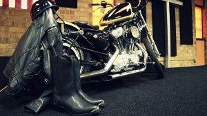 Conover, North Carolina, USA: A motorcycle is displayed on a new stage at Freedom Biker Church. T... عکس روز - 13 دسامبر 2013