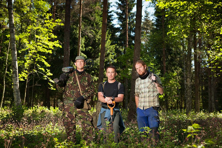 Saldus District, Latvia: Group portrait of Eastern Front dig team. Left to right: Stephen Taylor,... [Photo of the day - January, 2014]