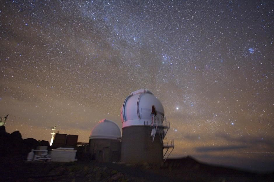 The University of Hawaii Institute for Astronomy's PS1 observatory, Maui. [Foto do dia - Fevereiro 2011]