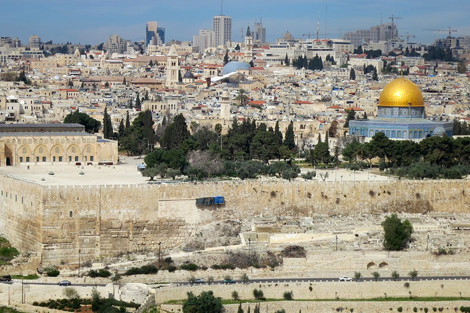 Jerusalem, Israel: Scenic shot of Jerusalem with views towards the Old City and Dome of the Rock... [Photo of the day - February 2014]