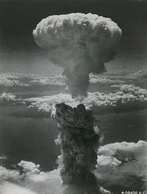 An atom bomb blasts Nagasaki on August 9, 1945, signaling the end of World War II. The heart of t... [Photo of the day - August 2011]