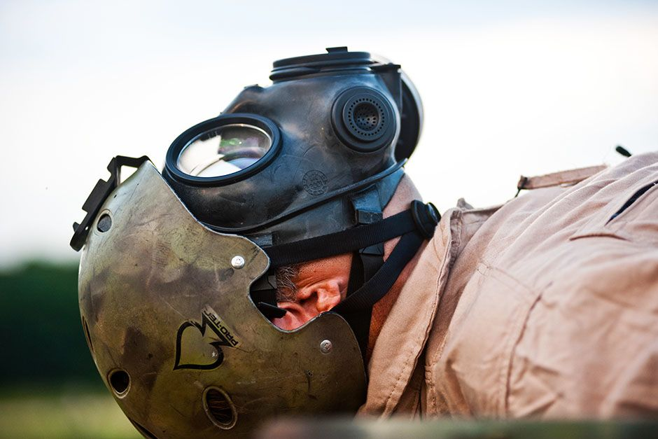 Hope Mills, North Carolina, USA: Mike Evock is preparing for a biological or chemical attack on... [Photo of the day - February 2014]