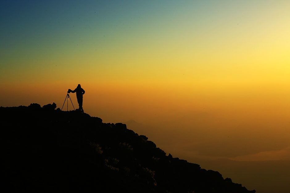 Mt. Fuji, Japan: Yu Yamauchi taking a photo of the dawn at Mt. Fuji. This image is from Access... [Photo of the day - February 2014]