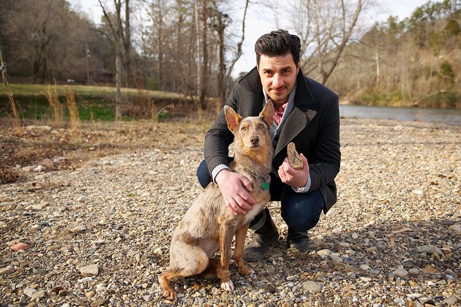 Arkansas, USA: Alexis Conran with the dog that was used in a bet which backfired. The dog was... [Photo of the day - March 2014]