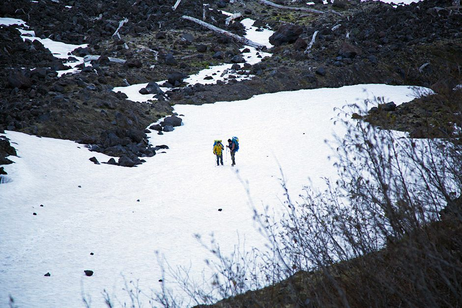 Kris Hartman and Tim Medvetz travel the snowy slopes of Mount St. Helens. This image is from Goin... [Photo of the day - April 2014]