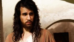 Dramatization: Nick Simmons as Jesus. This image is from The Jesus Mysteries. Photo of the day - 17 אפריל 2014