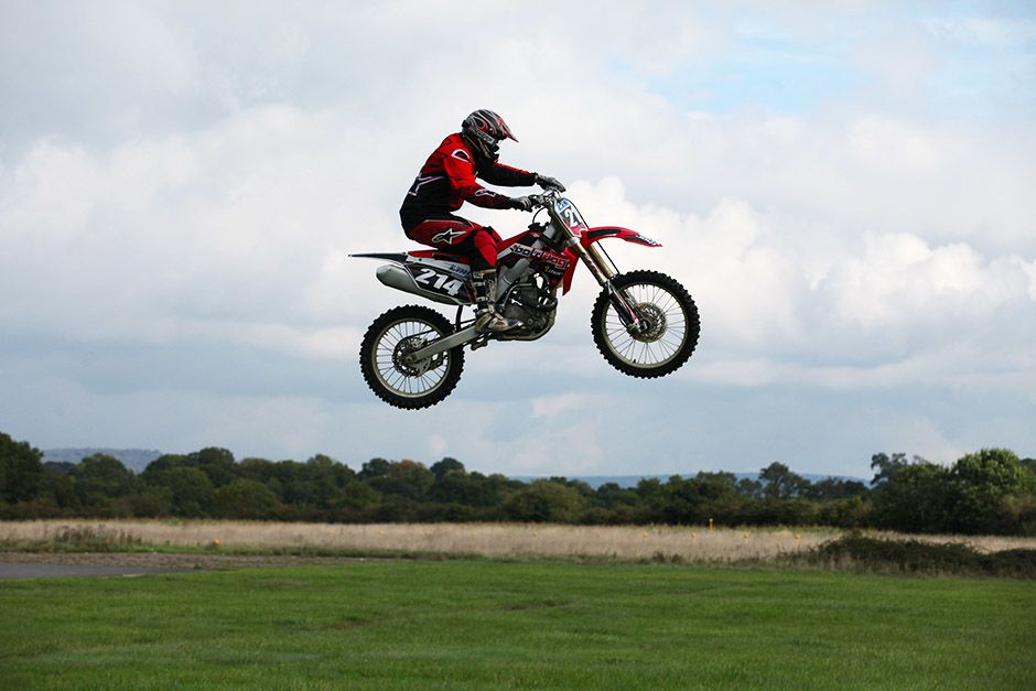 Dunsfold, Guildford, Surrey, UK: A motorbike professional performing a jump. This image is from S... [Photo of the day - april 2014]