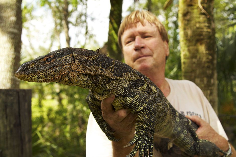 Miami, FL, USA: A Nile monitor in Joe Wasilewski 's hands. This image is from Access 360°:... [Photo of the day - April 2014]