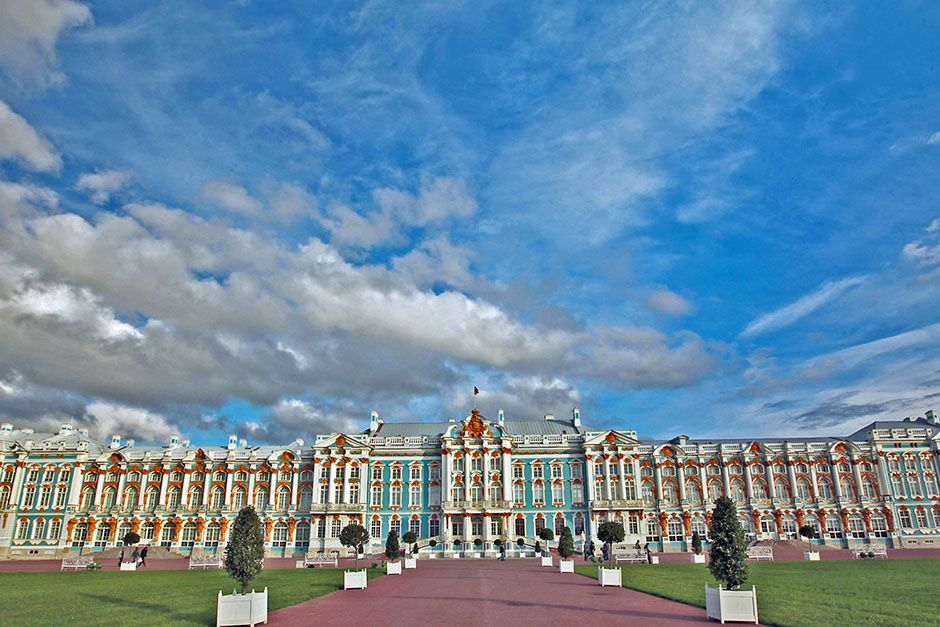 St. Petersburg, Russia: The Catherine Palace set against a cloudy, blue sky. This image is from... [Photo of the day - June 2014]