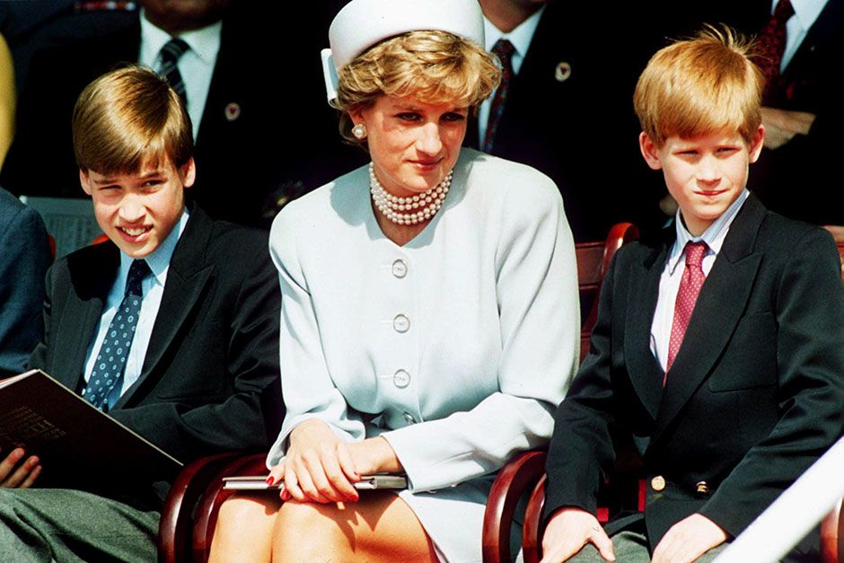 Princess Diana, Princess of Wales with her sons Prince William and Prince Harry attend the Heads ... [Photo of the day - August 2014]