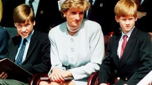 La Pricipessa Diana, Principessa del Galles con i figli Pricipe William e Principe Harry presenzi... Foto del giorno -  1 agosto 2014