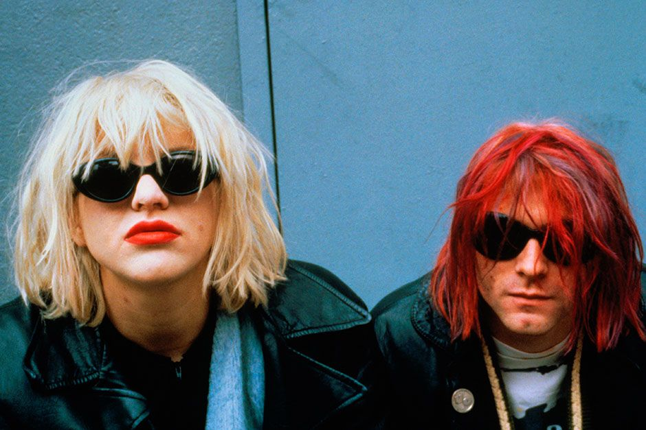 Courtney Love and Kurt Cobain, from the grunge band Nirvana, in 1992. This image is from The... [Photo of the day - August 2014]