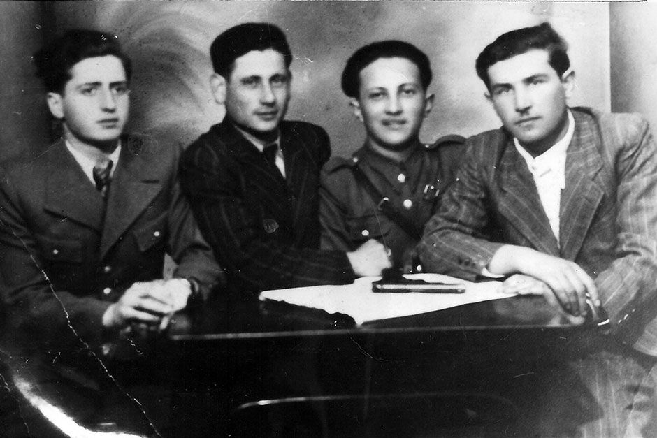 Philip Bialowitz, joined by other Sobibor escapees in Lubin 1944. This image is from Nazi Death C... [Photo of the day - August 2014]