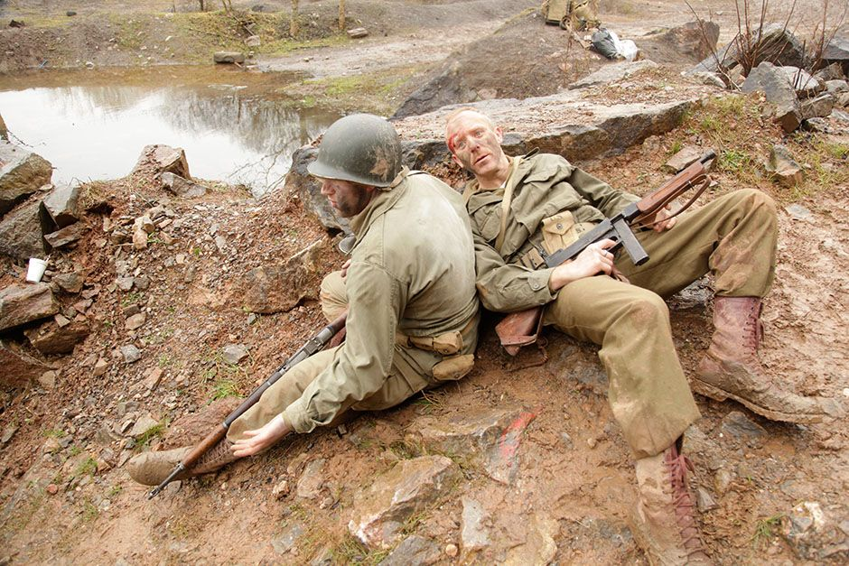 Reenactment: Lt Col James Rudder and an anonymous ranger. This image is from WWII's Greatest... [Photo of the day - August 2014]