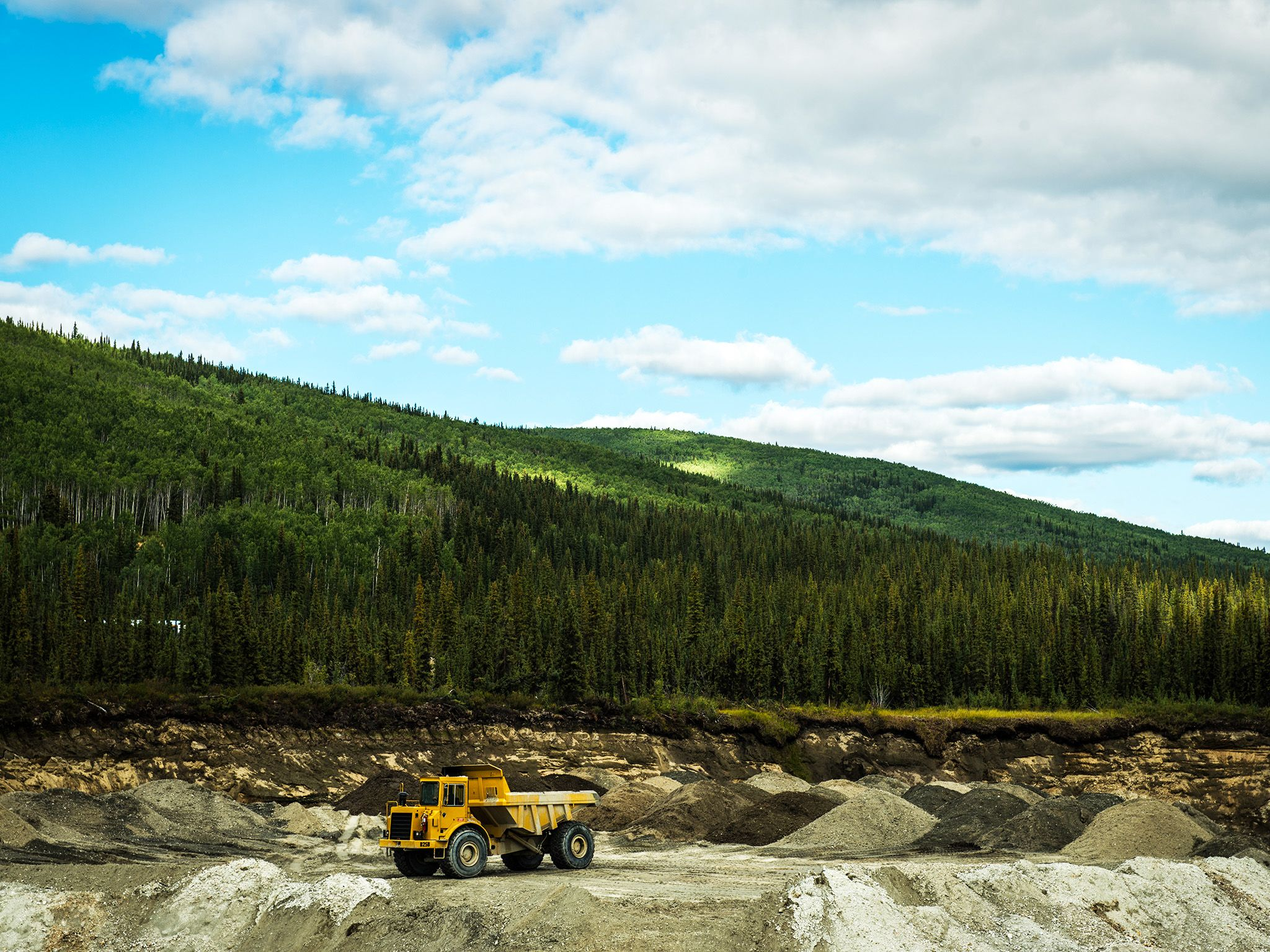 Truck at a mine.