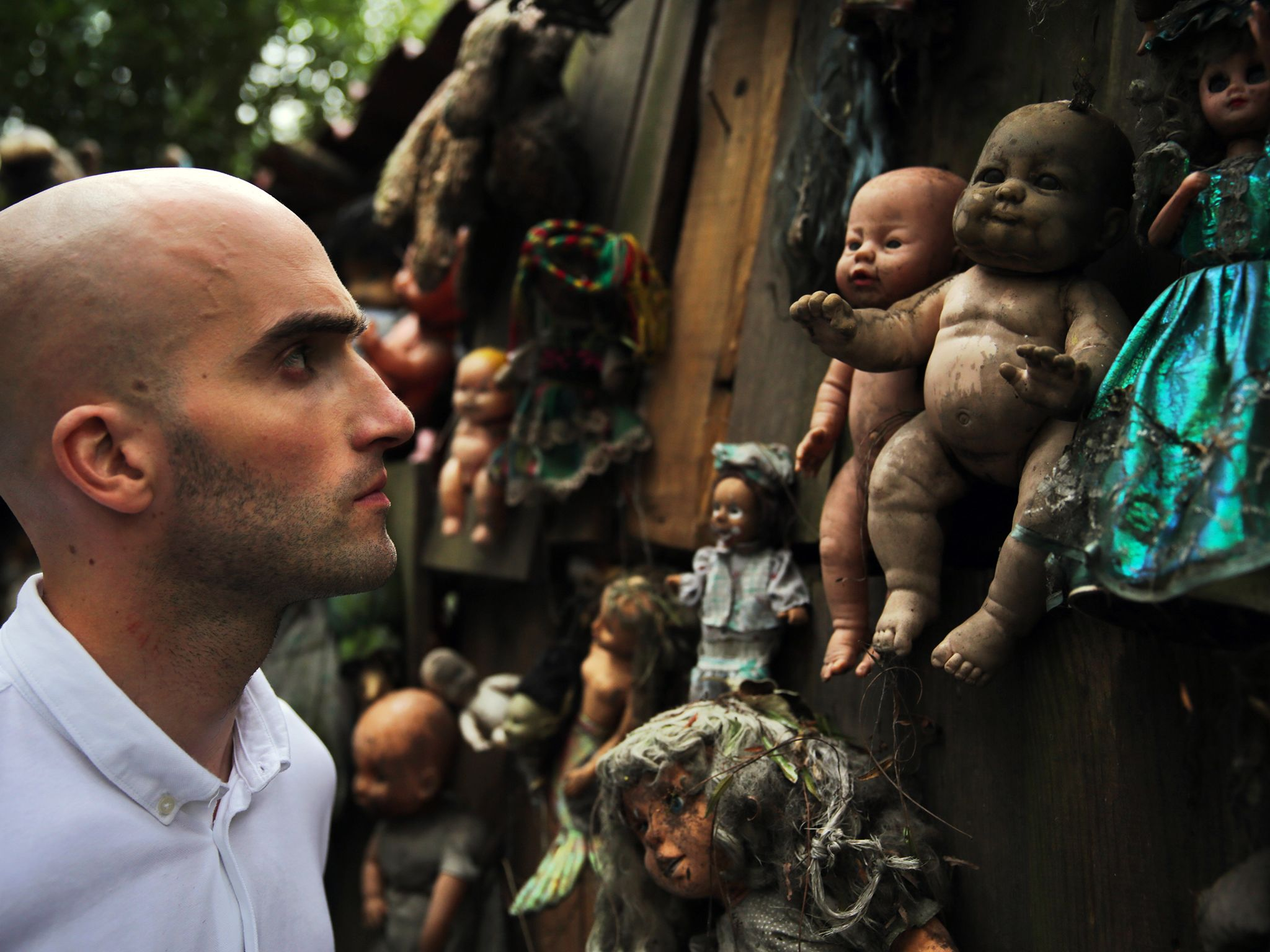 Isla de las Muñecas, Mexico City, Mexico -  DMC at Doll Island among dolls and trees. In the p... [Dagens foto - november 2014]