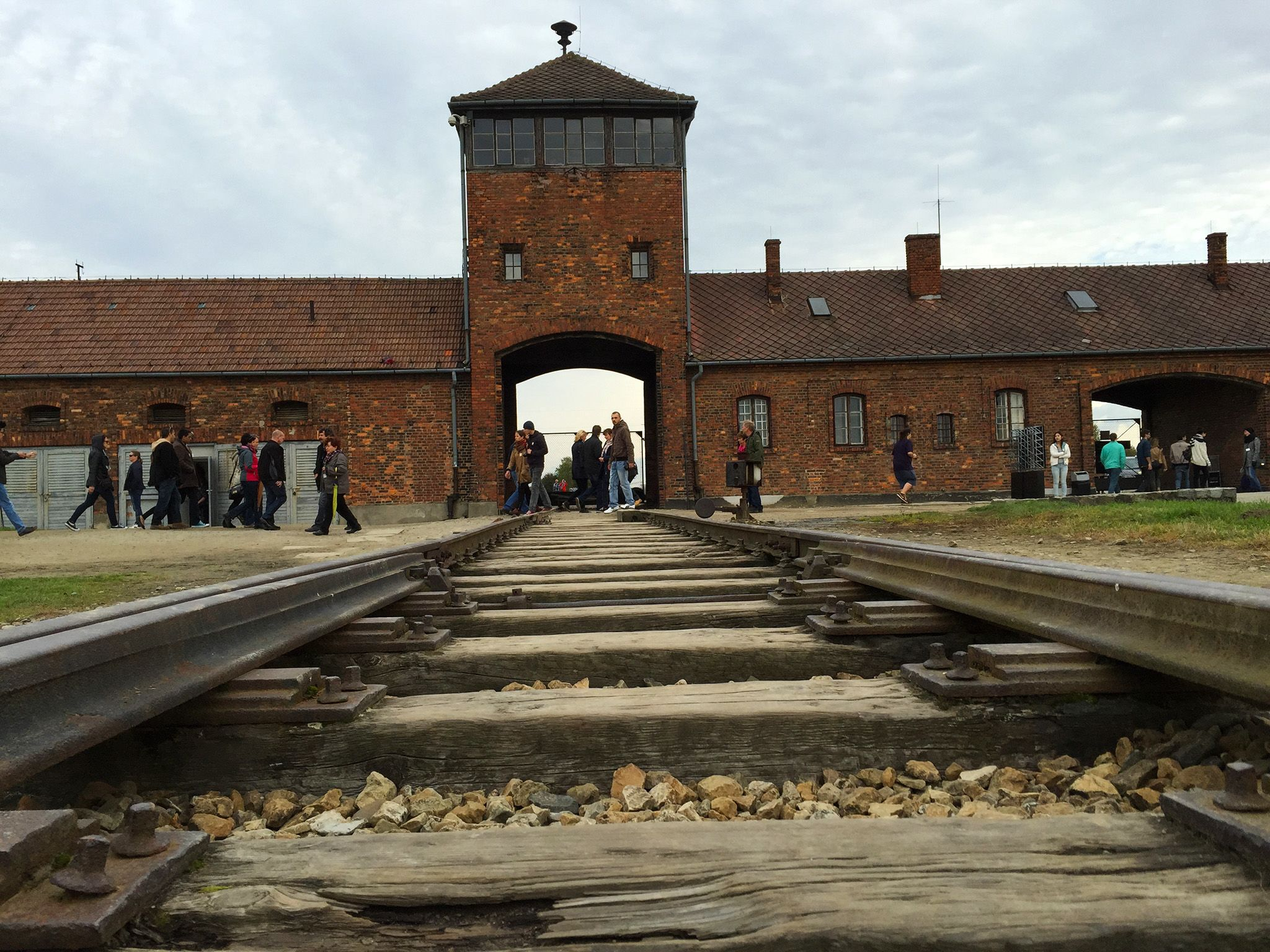 Birkenau, Auschwitz, Poland: The main camp entrance. This image is from After The Annex. [Photo of the day - March 2015]