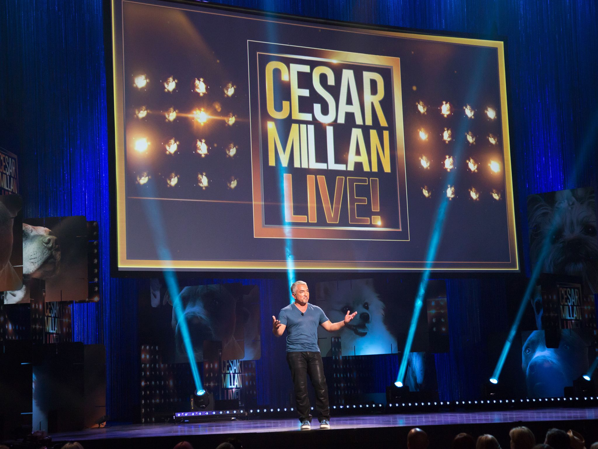 Cesar Millan at the Las Vegas Cesar LIVE event. This image is from Cesar Millan: Viva Las Vegas! [Photo of the day - April 2015]
