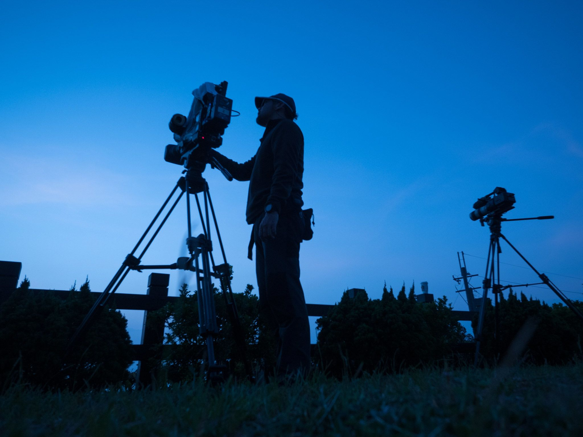 Crew are filming in the night. [Photo of the day - July 2015]