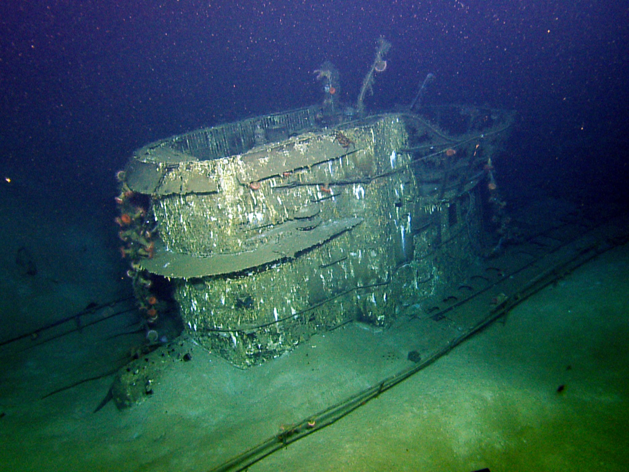 Conning Tower from wrecked Nazi U-boat, U-166. This image is from Nazi U-Boat. [Photo of the day - October 2015]