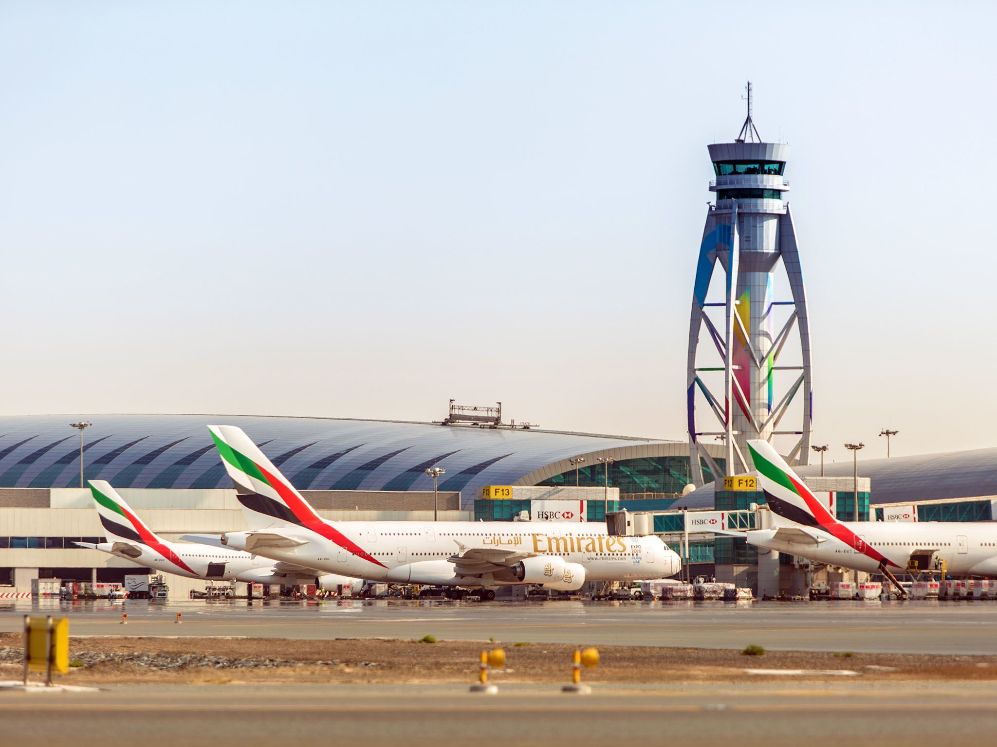 Dubai: The air traffic control tower. This image is from Ultimate Airport Dubai. [Photo of the day - October 2015]