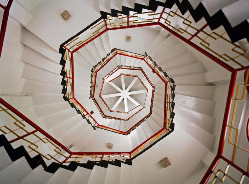A spiral staircase in the interior of a Pagoda found at Sun Moon Lake. [Photo of the day - June 2011]