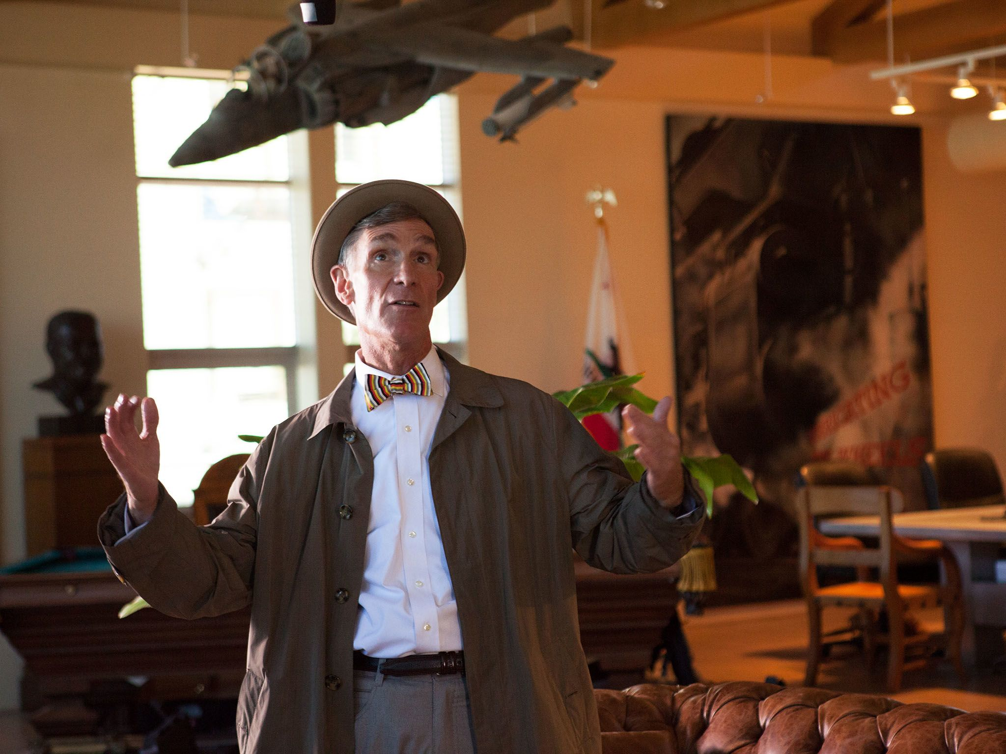 Bill Nye in climate change therapy. This image is from Bill Nye's Global Meltdown. [Photo of the day - November 2015]