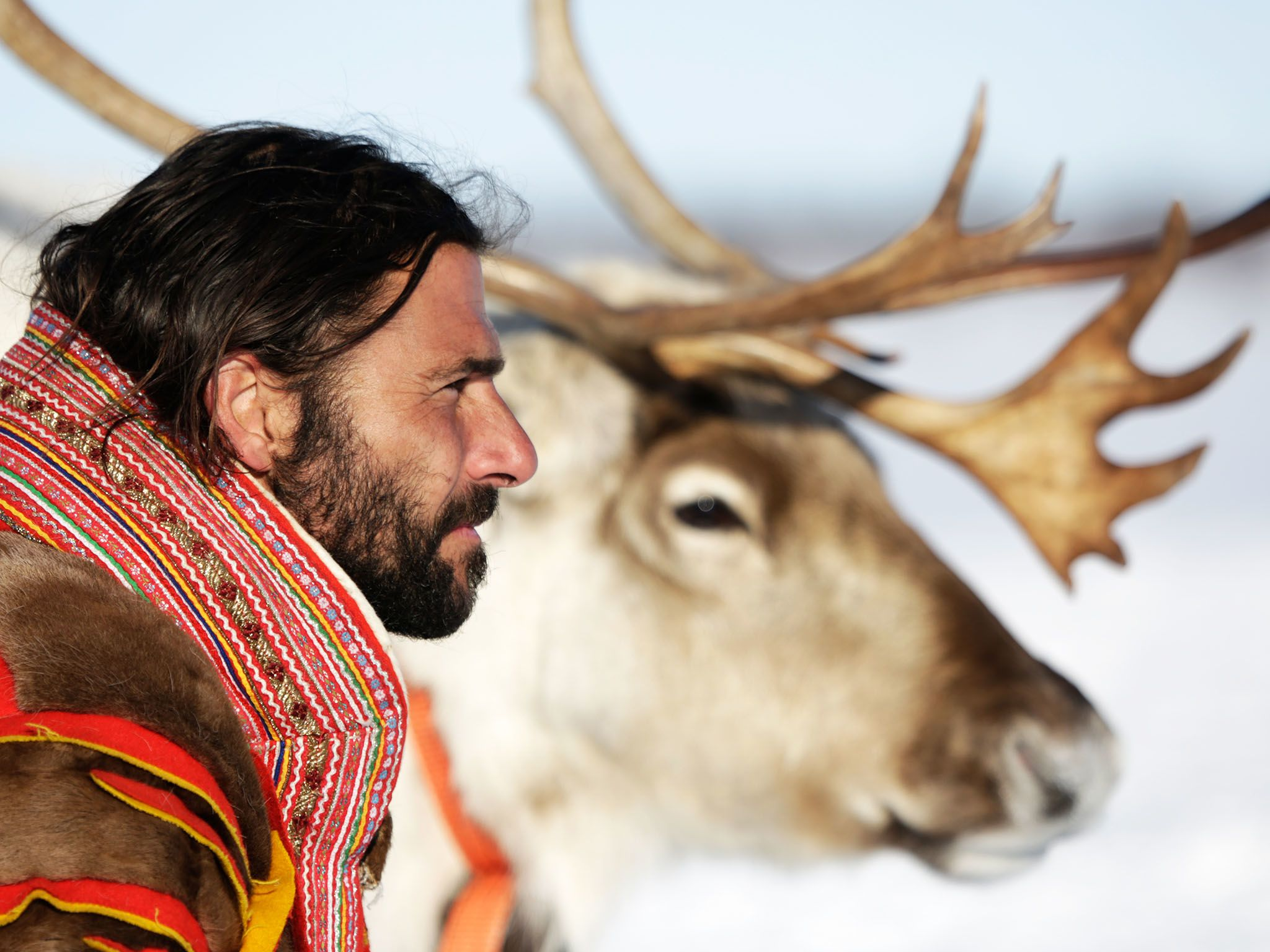 Norway: Hazen with his reindeer stag. This image is from Primal Survivor. [Photo of the day - ژانویه 2016]