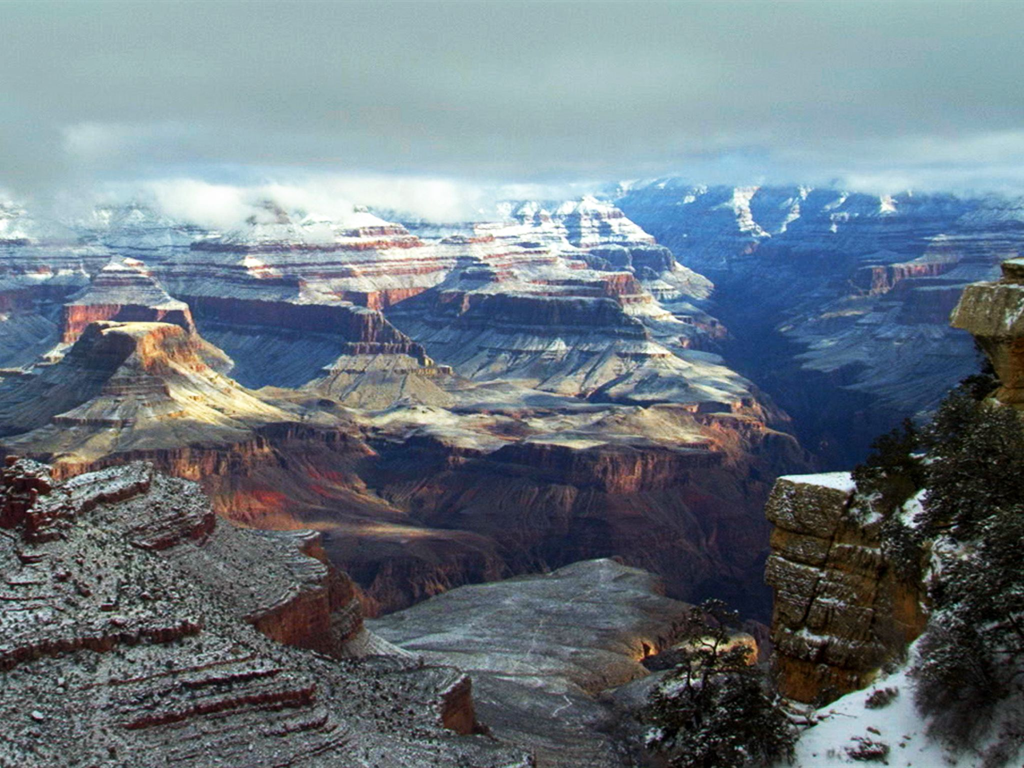 Grand Canyon National Park, Ariz.: Winter is a peaceful time in the Grand Canyon National Park. T... [Photo of the day - فوریه 2016]
