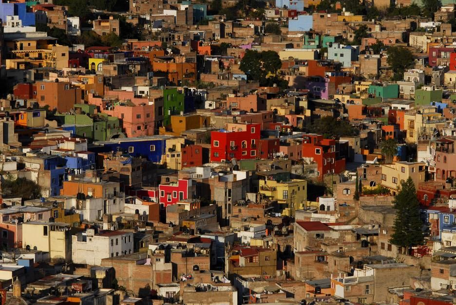 Colourful houses in the Guanajuato Cityscape. [Photo of the day - juni 2011]